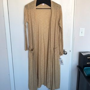 NWT LuLaRoe Sarah Size S- Heathered Tan Color